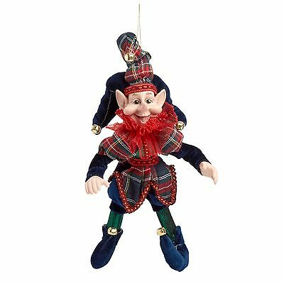"""NEW  Nantucket Christmas Elf 14"""" poseable Whimsical  Elf Fast Free Shipping!"""