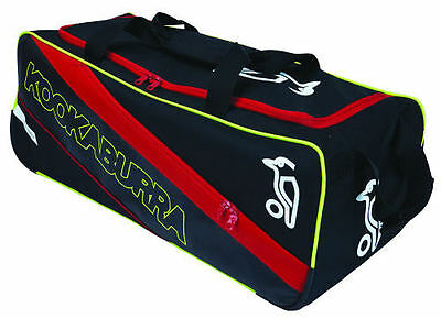 2017 Kookaburra Pro 1500 Black Red Wheelie Cricket Bag