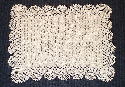"New handmade crochet placemat - 19"" x 26"" - made to order"