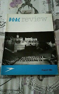 Vintage Airline B.o.a.c Review Magazine - August 1964
