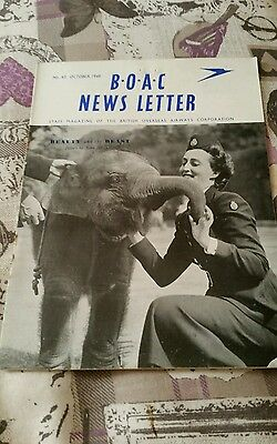 Vintage Airline B.o.a.c News Letter Magazine - No. 43 October 1949