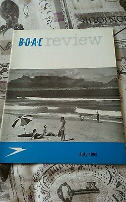 Vintage Airline B.o.a.c Review Magazine - July 1964
