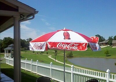 Coca Cola Coke Patio Outdoor Umbrella New!