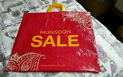 Collectable Advertising Bag For Life Type Plastic Carrier Bag - Monsoon Sale