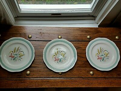 Alfred Meakin Havest  Bouquet 3 Salad Plates