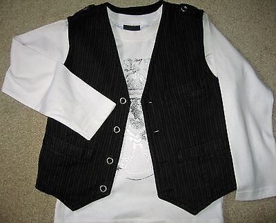Next Waist Coat And Top Set Age 5Yrs