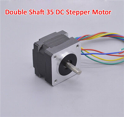 1PCS 35mm DC Stepper Motor Double Output Shaft 2-phase 4-wire 1.8 Degrees/Step