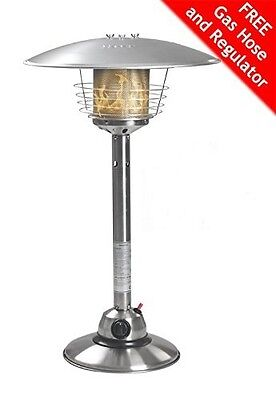 Garden Gas Patio Heater Stainless Steel Table Top and Variable Heat Control 4KW