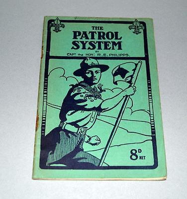 Old Scout Booklet - The Patrol System -- 1941 - WW2 Era.