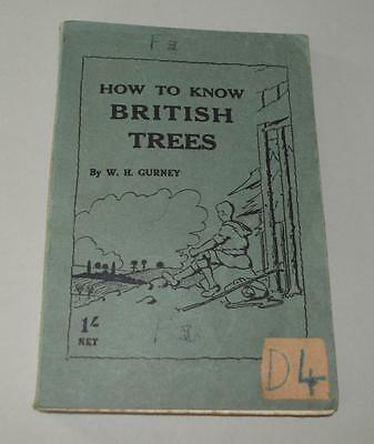How To Know British Trees - Scout Book ?.  1932.