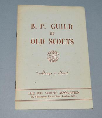 Old Scout Booklet - B.P Guild Of Old Scouts.