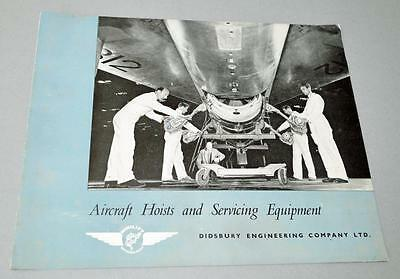Old Didsbury Aircraft Hoist and Equipment Brochure.