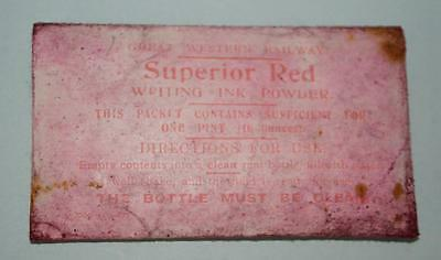 Old Packet Of Superior Red Ink Marked Great Western Railway.