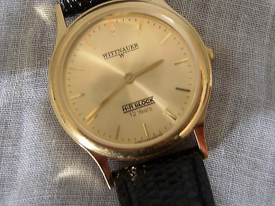Unique tax time piece~H&R Block Whittnauer 10 year employee gold watch~very Rare