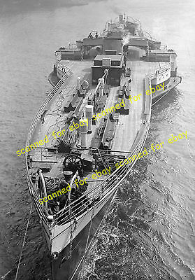 """Photo - """"Crested Eagle"""" paddle steamer minus mast & funnel under tow, April 1937"""