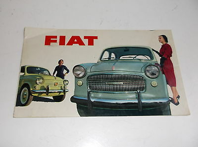 Fiat 500 (1955) - the New 500 600 1100 1200 fold out brochure
