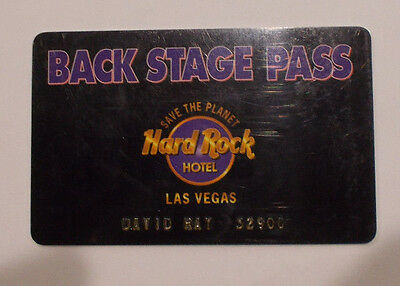 Hard Rock Hotel and Casino Las Vegas Back Stage Pass Player Player's Club Card