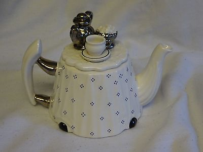 Detailed Cardew Teapot Silver Service Tea Table One Cup Excellent Condition