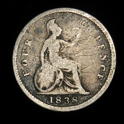 1838 Great Britain 4 Pence silver