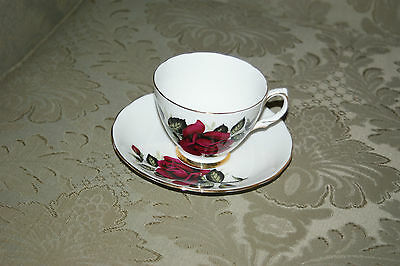 """Colclough Made in England Bone China Teacup And Saucer Set """"Pattern Number 7986"""""""