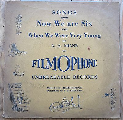 Filmophone Flexible Record Set of 3 - Songs from Now We Are Six.. by A.A. Milne