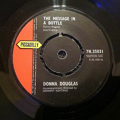 Donna Douglas - The Message In A Bottle Uk Single 1962 Piccadilly