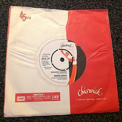 Whirlwind - Heaven Knows 1980 U.k. Single Chiswick Records