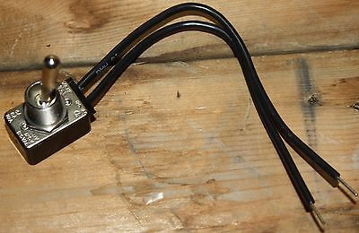 Gaynor 6600-6699 SPST Single Pole Single Throw Metal Toggle Switch 18 AWG
