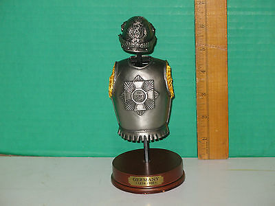 """Pewter Replica Germany 1859-1909 Armor and Helmet 7 1/4"""""""