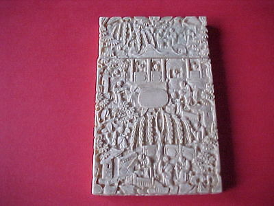SUPER ,19thC CHINESE HAND CARVED LARGE  CARD CASE