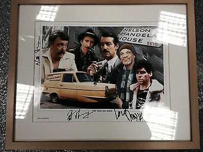Only Fools And Horses Rare Signed Photo Nelson Mandela House Framed 7 Of 400