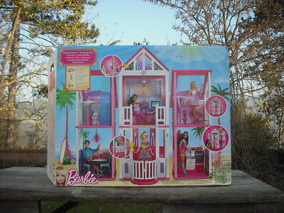 Maison glamour barbie mattel meubles poupee barbie for La casa di malibu