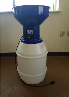 New 110 Volt Electric Grain Mill Grinder with 13 Gallon Bin, Detachable Hopper