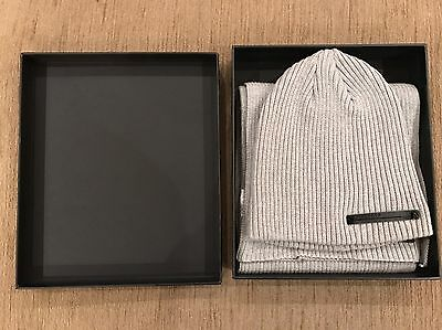 Firetrap Beanie Hat And Scarf Men's Grey New