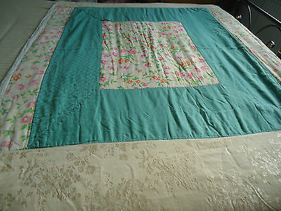 """Vintage Bedspread 1930's Hand Made 74"""" x 48"""" Shabby Chic Unique"""