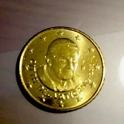 Vatican 50 Cents 2011 Euro Coin Papal Pope BUNC new From Roll