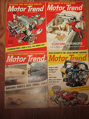 Lot of - 4 - Vintage - 1959 - Motor Trend - Car Magazines