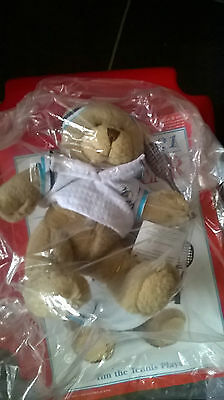 The Bear Collection Tim the Tennis Player  BNIP with magazine