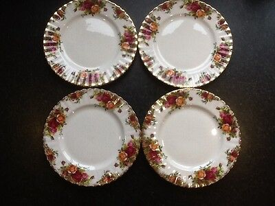 Country Roses 4 Salad Plates