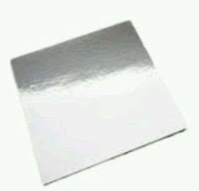 """12 boards 2 x 6 pack square cake boards heavy duty size 12"""" x 2.5mm thick"""