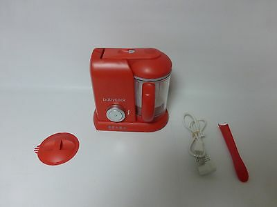 BEABA Babycook Pro 25th Anniversary Food Maker / Steam / Cook / Blend, Red