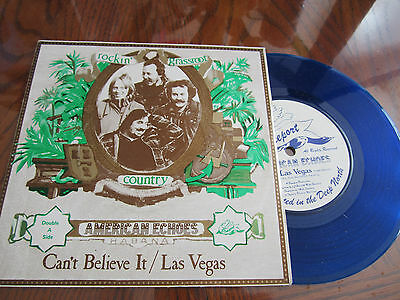 """American Echoes – Can't Believe It :7"""" Limited Edition Blue Vinyl  - 1978"""