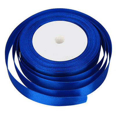 22 Metres of Satin Ribbon 15mm in Multiple Colours sold by rolls -Royal blue