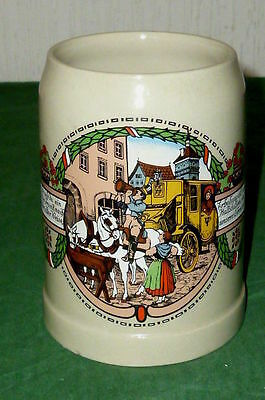 Ceramic mug Beer carriage train stein Jug Guild Jugs stone
