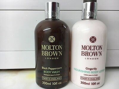 Molton Brown Black Pepper body Wash and Gingerlili Body Lotion new 300 ml