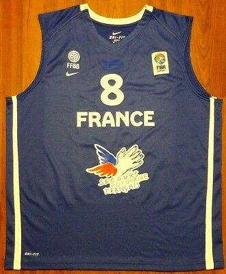 Authentic Nike Charles Kahudi France 2011 Eurobasket Game Issue Jersey Xxl Fiba