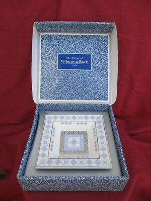 "Stunning & Sought After 'Villeroy & Boch' Square Dish in The Pattern ""Azurea"""