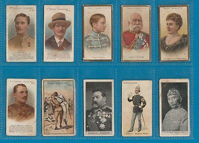 10 very early Cigarette cards tobacco inserts Taddy etc RARE *** #711