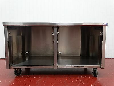 "EMI Industries Enclosed Stainless Steel Table 60""Long 30""Deep 33.5""Tall 15180Q"