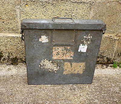 Rare Single 35mm Cinema Film Reel Transport metal box with old labels included